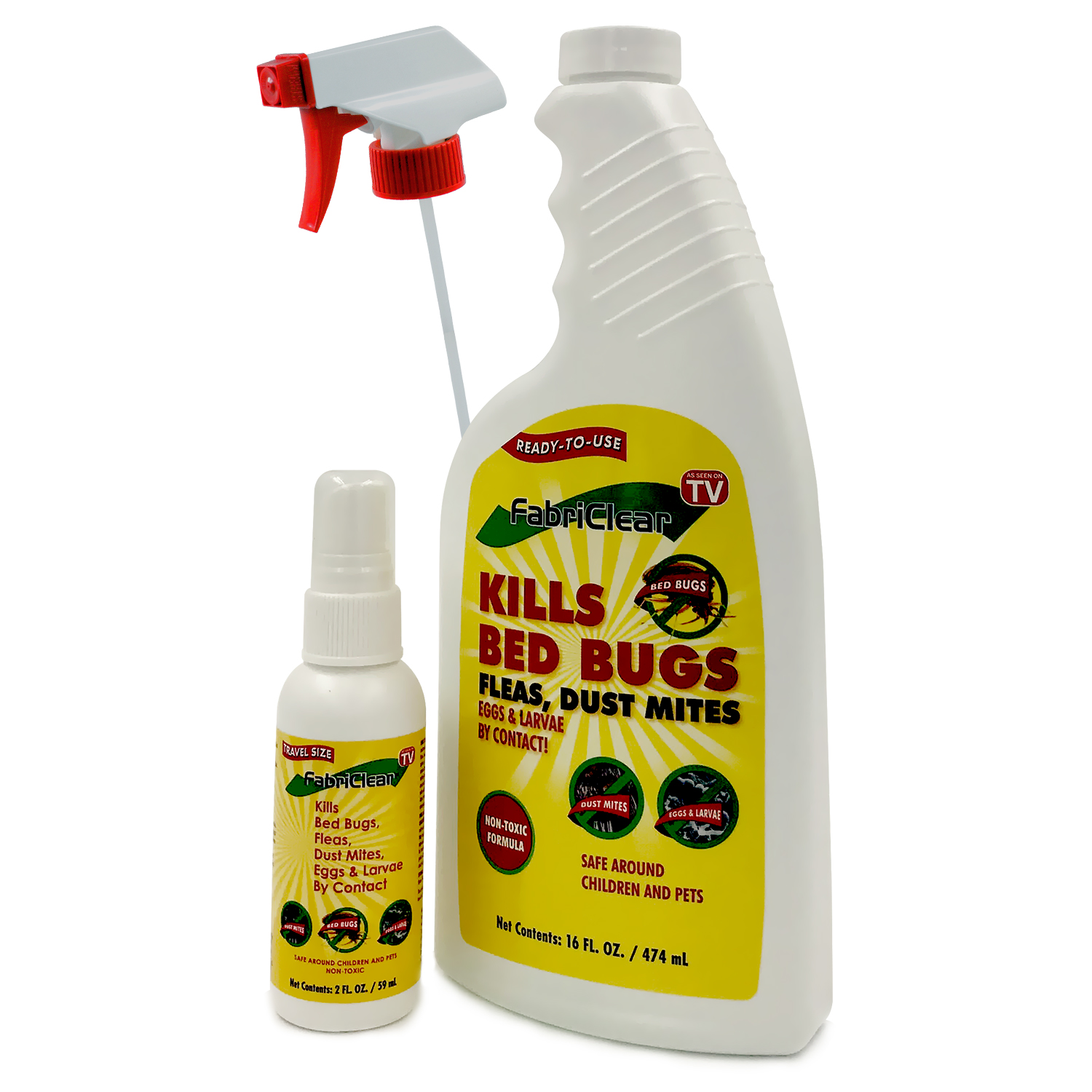 non product safe toxic fabriclear bug bed spray