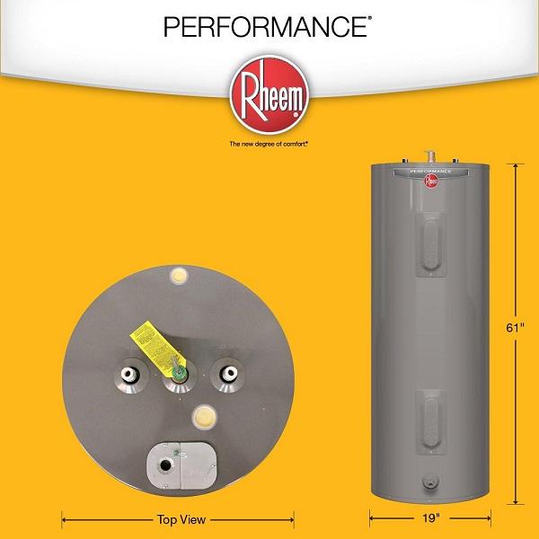 Rheem Performance Electric 40 Gal Water Heater Harvest